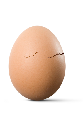 Cracked egg istock