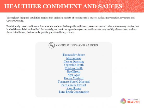 Healthier Sauces Page