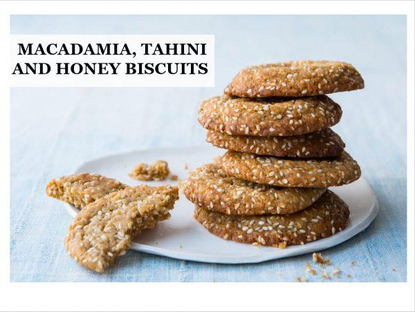 Maca Tahini and Honey Biscuits